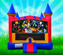 CLASSIC SPACE WARS Primary Colors Modular Bounce House