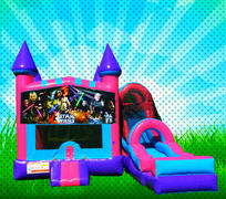 DRY CLASSIC SPACE WARS Pink, Purple, Light Blue Colors Modular Combo Bounce House