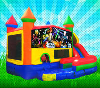 WET CLASSIC SPACE WARS Primary Colors Modular Combo Bounce House