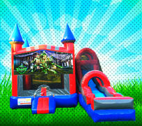 DRY TMNT Red, Blue, Gray Colors Modular Combo Bounce House
