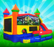 DRY TMNT Primary Colors Modular Combo Bounce House