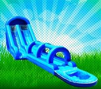 20 FOOT WET BLUE GIANT SLIDE WITH SLIP N SLIDE AND POOL