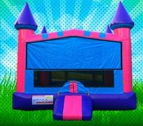 Pink, Purple, Light Blue Colors Modular Bounce House
