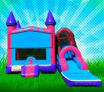 WET Pink, Purple, Light Blue Colors Modular Combo Bounce House