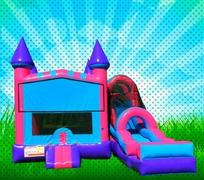 DRY Pink, Purple, Light Blue Colors Modular Combo Bounce House