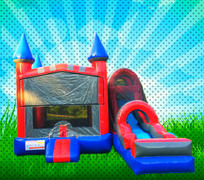 DRY Red, Blue, Gray Colors Modular Combo Bounce House