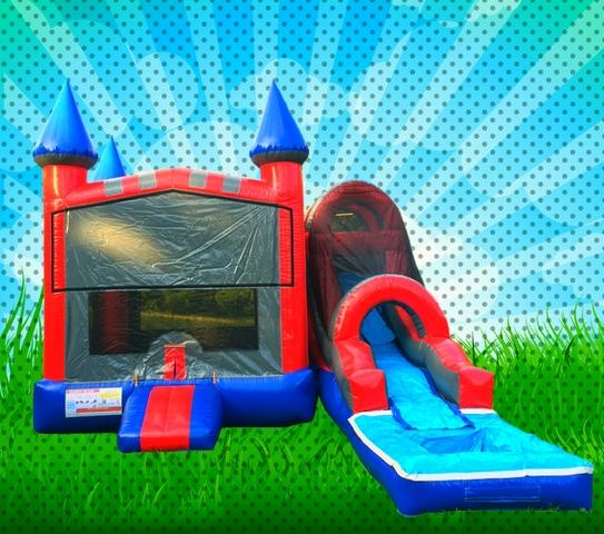 WET Red, Blue, Gray Colors Modular Combo Bounce House