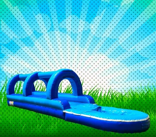 SUPER 40 FOOT LONG SLIP-N-SLIDE WITH POOL