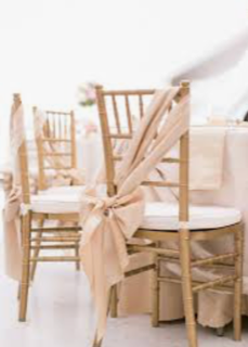 Polyester/Satin Chair Sashes