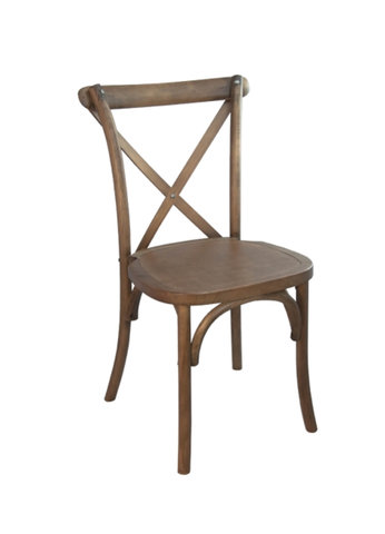 Wooden Crossback Chair Chestnut