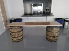 Two Whiskey Barrel Bar