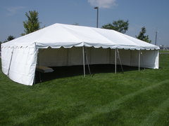 Solid White Tent Sidewalls