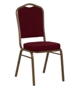 Padded Burgundy Banquet Chairs
