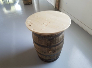Whiskey Barrel Cocktail Table