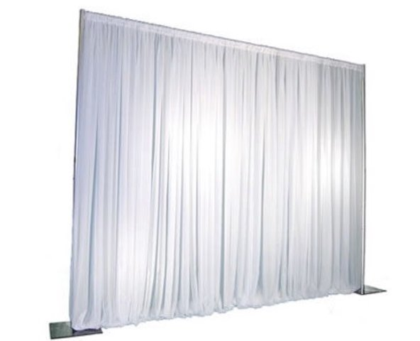 Pipe and Drape 8' High X 10'  White