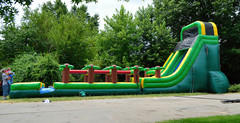 20' slide with slip and slide.