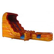 18' Volcano DRY slide 7hr rental 4 hr price