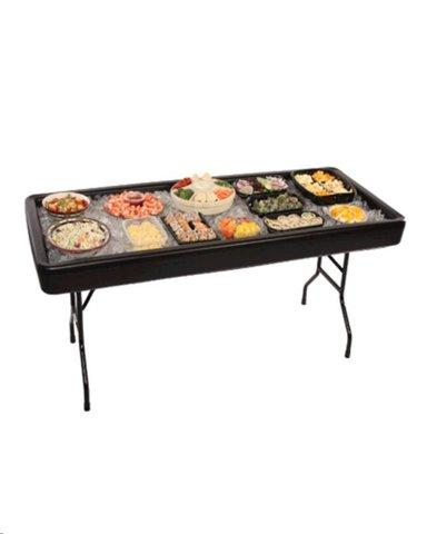 6' Chiller Table (Black)