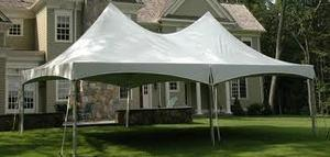 20x40 Ultimate Tent Tables & Chairs Package Seats 64 (White Chairs)