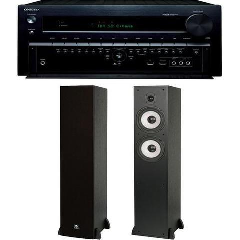 Receiver and Tower Speakers