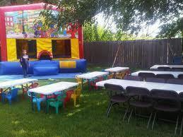 Castle Bounce House, Table and Chairs