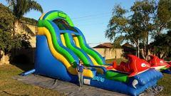 18 ft Ragin Cajun Water Slide