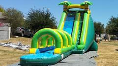 22ft Tropical Extreme Water Slide w Slip n Slide