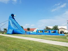 36ft Dual Lane Blue Crush Water Slide