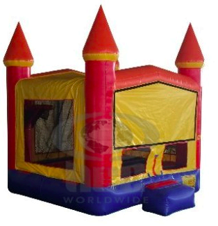 (50) Party Castle Bounce 1 w/Hoop