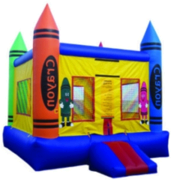 (16) Crayon Bounce House with Hoop