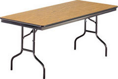 6ft Wooden Folding Table