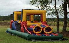 35 ft  obstacle with mini slide