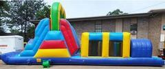40' Obstacle Course with slide ( Wet )