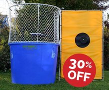 "Dunk Tank Special <font color=""red""><b><s> $250</font color=""red""></b></s>  <b>Now only $175!</b>"