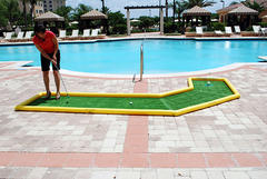 Mini Putt Putt Game - Dogleg Left