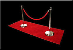 Red Carpet Waiting Line with Stanchions