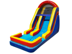 Wet Rainbow Slide With Pool