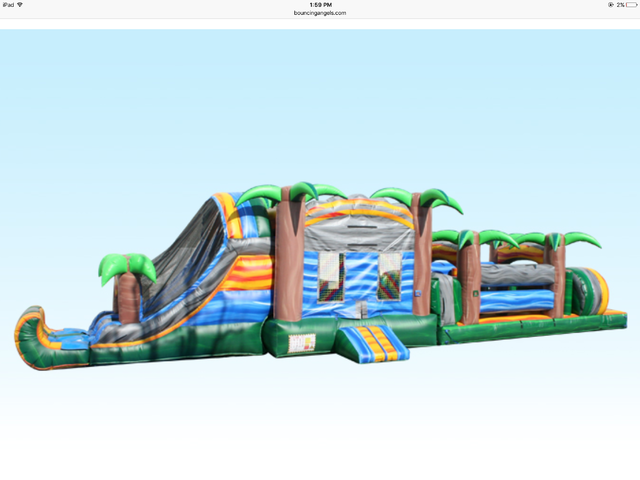 53' Dry Blue Crush Obstacle Course