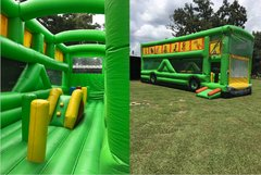 "35"" wet obstacle course bus"