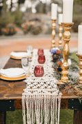 Macrame Table Runner for Sweetheart Table