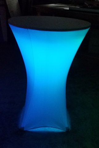 LED Cocktail Table with spandex