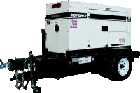 Generators  Trailer Mounted Portable Power