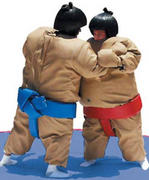 Sumo Suits complete with Mat and Helmets