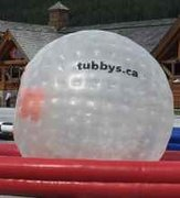 Zorb Balls with Criss Cross Collision Race Track