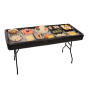 Chill And Fill 4 ft. Table (Black)