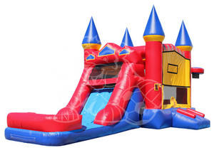 Red/Yellow/Blue Castle and Slide Dry Combo