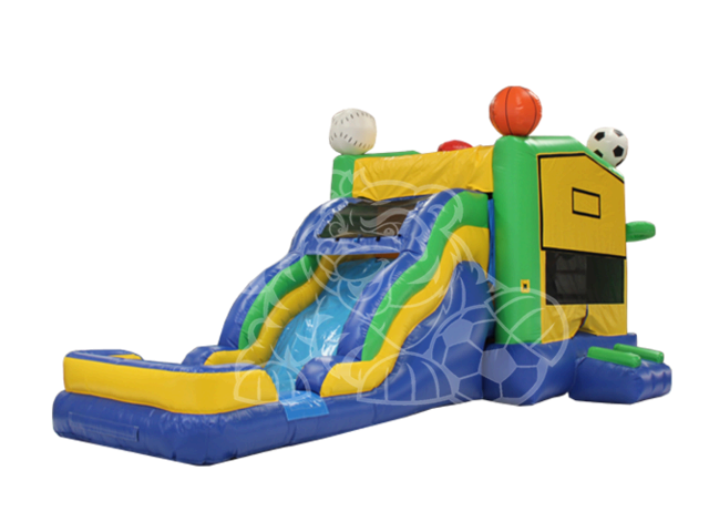 Sports Bounce House and Slide Wet Combo