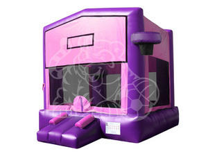 13 x 13 ft Pink and Purple Castle Bounce House