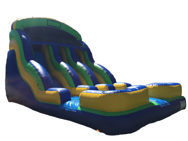 Tidal Wave 18 Ft Dual Lane Dry Slide