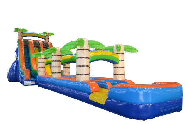 27' ft Tropical Paradise Dual Lane Water Slide